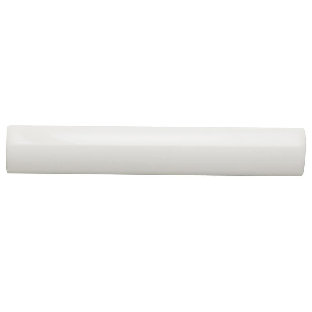 Daltile Restore Bright White 1 In X 6 In Ceramic Quarter Round Wall Trim Tile 0 03 Sq Ft Piece Re15a106cc1p2 Wall Trim Daltile Tiles