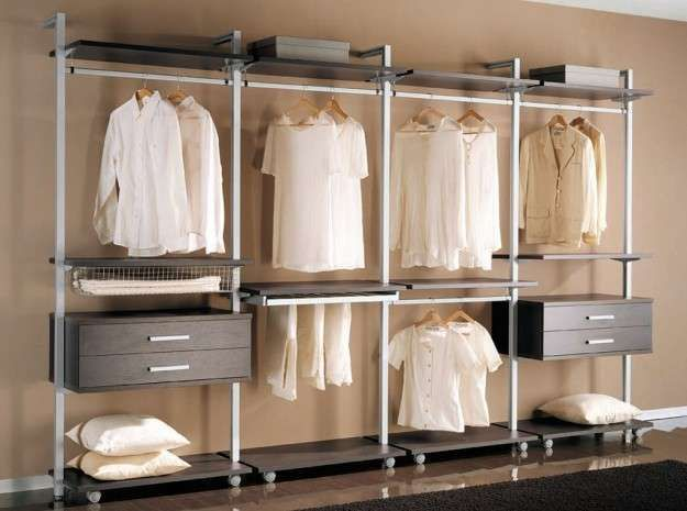 Allestire una cabina armadio - Cabina armadio minimal