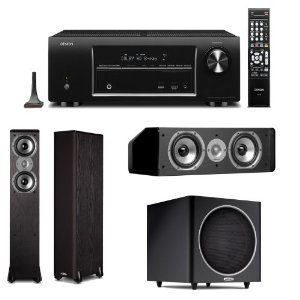Denon Avr 1613 5 1 Channel 3d Home Theater Receiver Plus Polk Audio Speaker Package Includes 1 Pair Of Polk Audio Speakers Polk Audio Home Theater Receiver