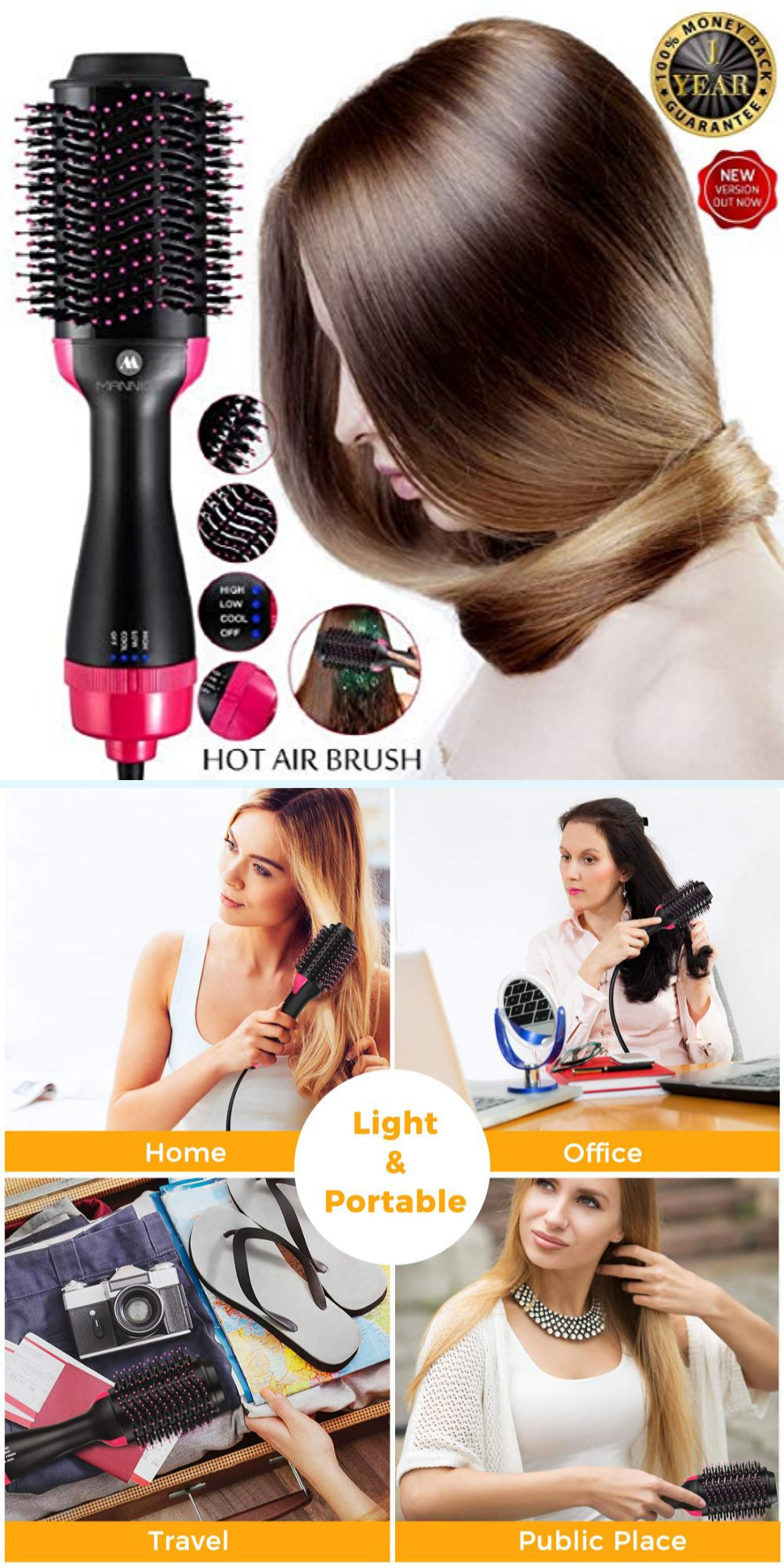 Photo of DIY Dry and Style Your Hair anywhere | 2 in 1 Hair Dryer and Volumiser Styling Tool