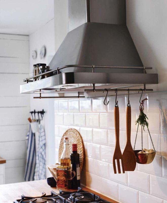 Une hotte en élément déco dans ma cuisine Ma cuisine Pinterest - pose d une hotte decorative