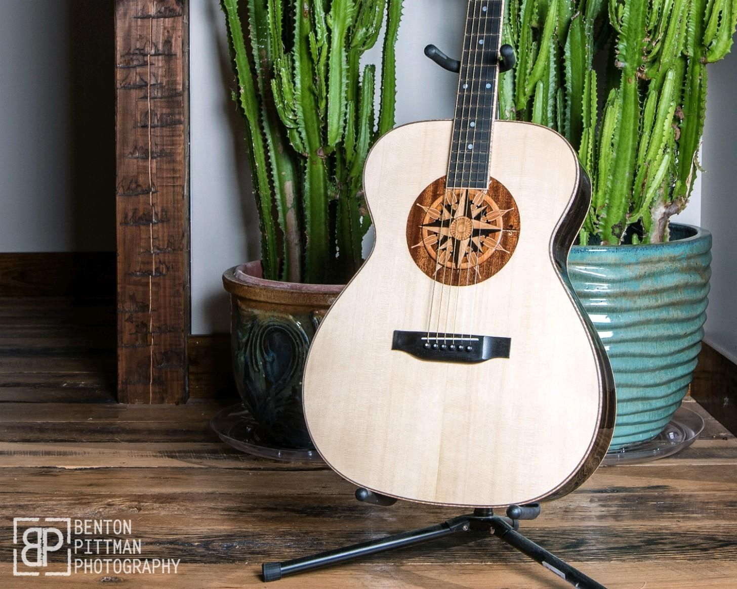 Custom Acoustic Guitar Sound Hole Insert With Custom Matching Rosette Www Lacuna Acousticart Com Custom Acoustic Guitars Guitar Custom Guitar