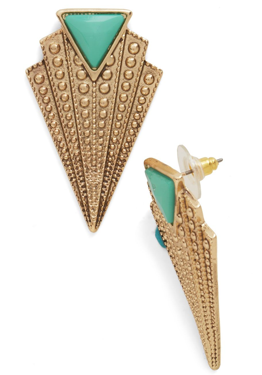 Gold Jewelry - Gracefully Glam Earrings