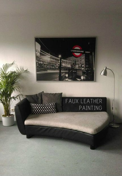 8 Faux Leather Sofa Makeover