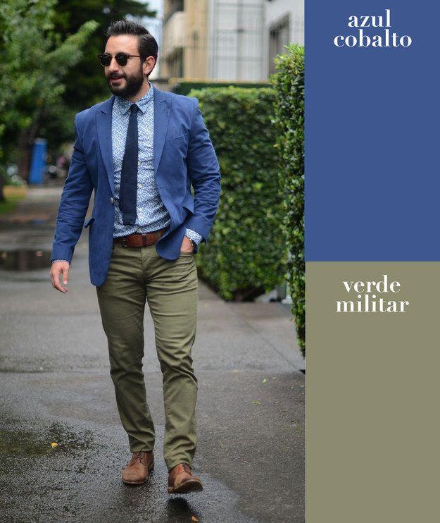 cd94a222ee Azul cobalto + verde militar
