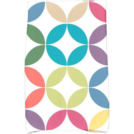 Simply Daisy 16 inch x 25 inch Eye Opener Geometric Print Hand Towel, Blue