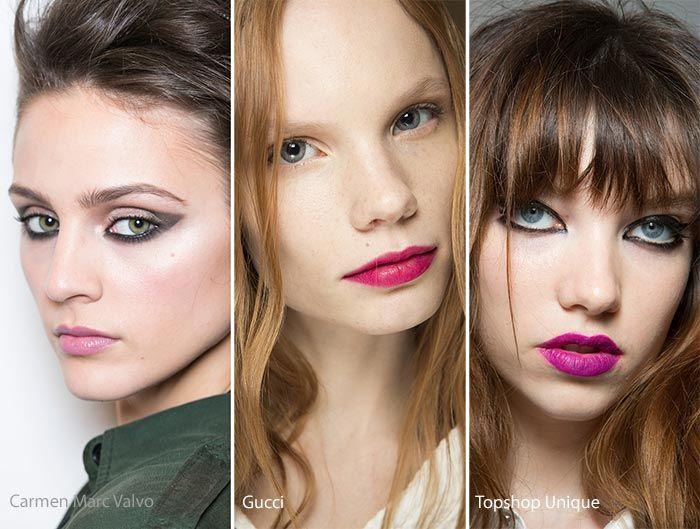 Fall/ Winter 2016-2017 Makeup, Beauty Trends: Pink Lips