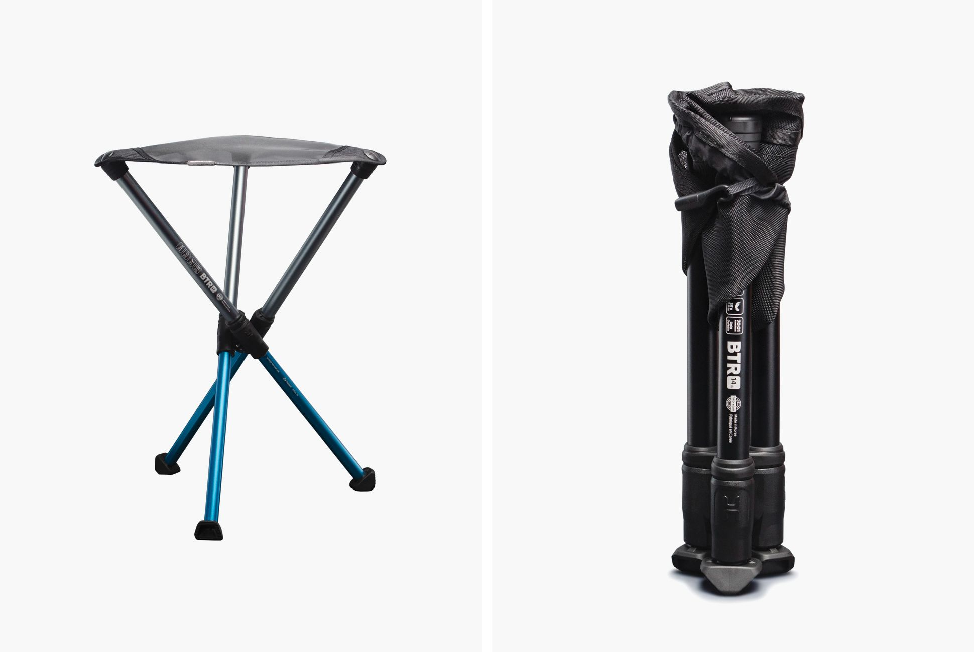 Photo of This Clever Camp Stool Packs Down to the Size of a Whiskey Bottle — and Weighs Even Less