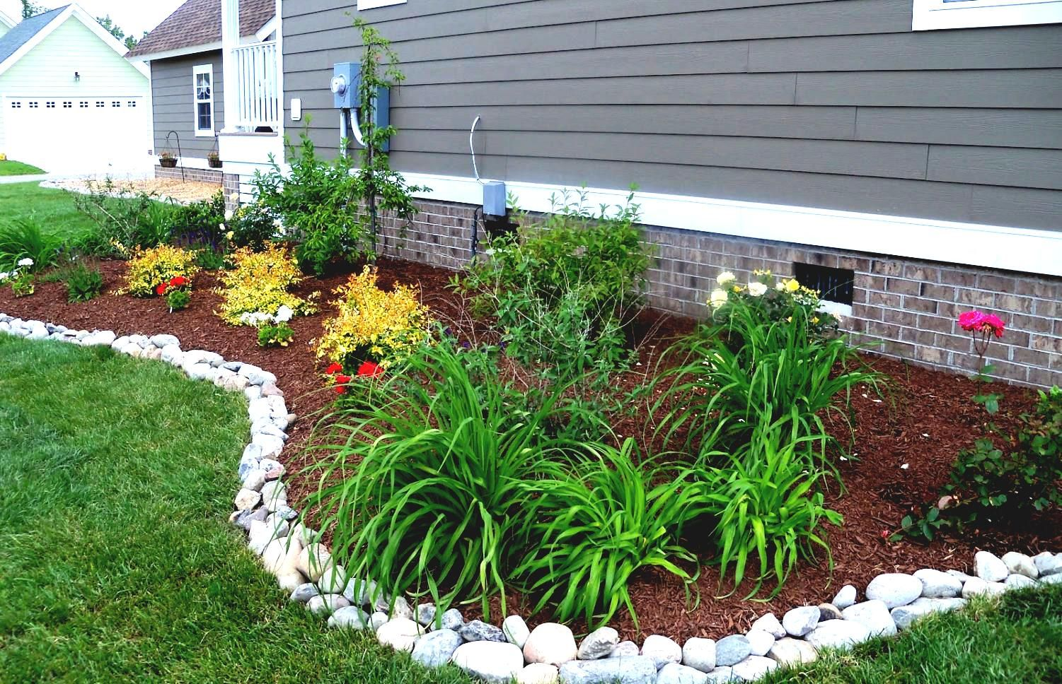 Landscaping Around The House : Landscape edging stone ideas garden plastic rock