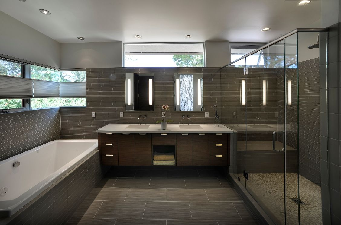 Bathroom Design San Diego Private Residence San Diego Catech Lighting Illuminated Mirrors
