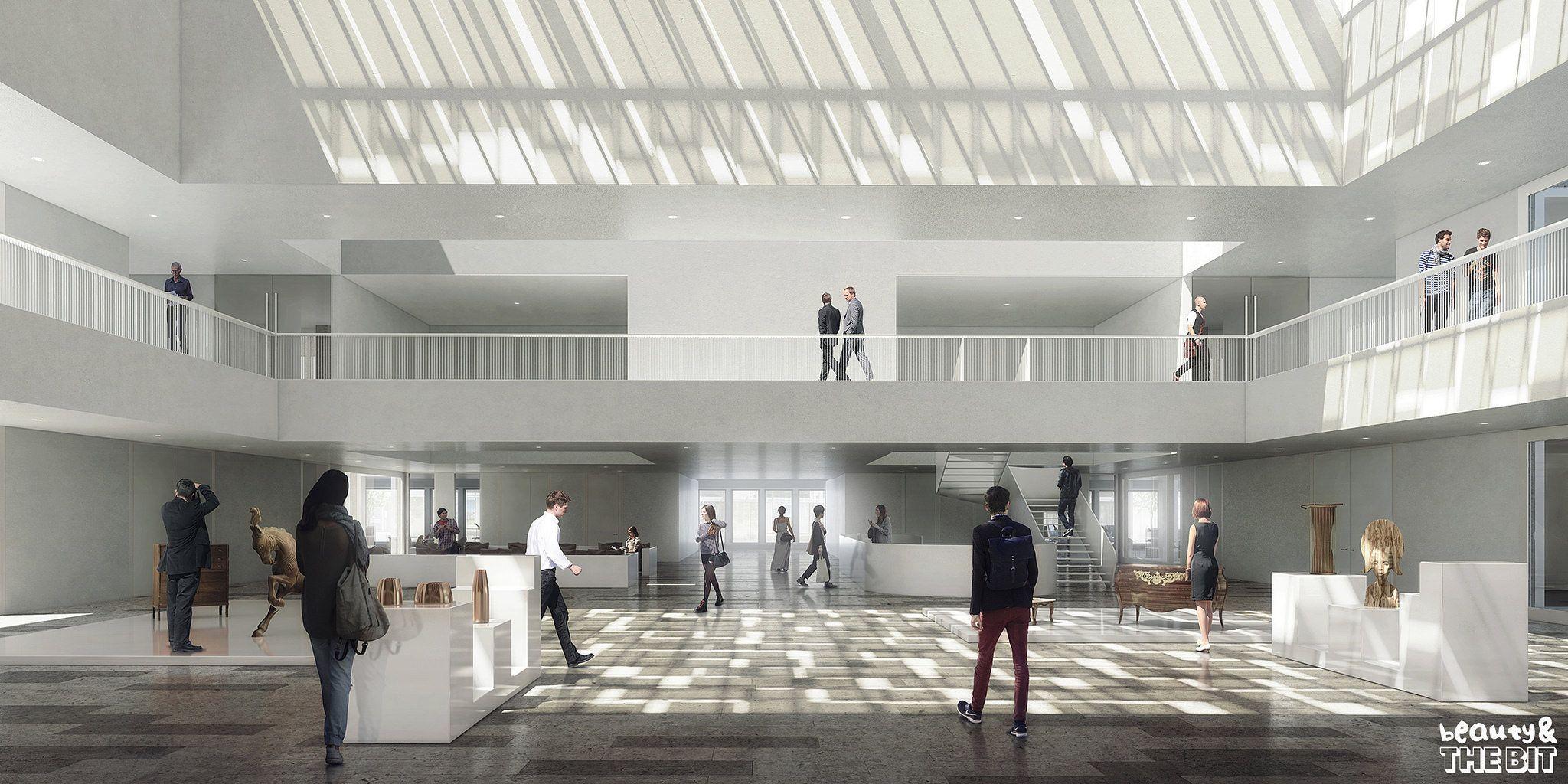 Chambre De Metiers Et De L Artisanat Cma France Kaan Architecten 2015 Architecture Visualization Arch Interior Lille