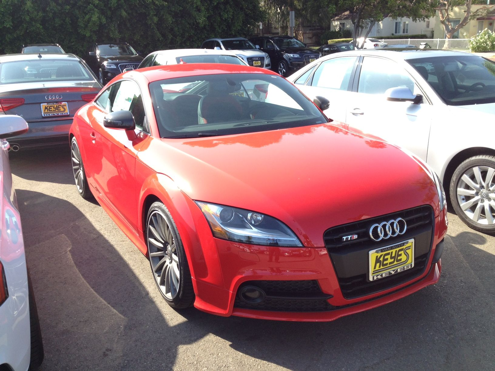 Misano Red Pearl  2014 Audi TTS with Black Optic Package | The Red