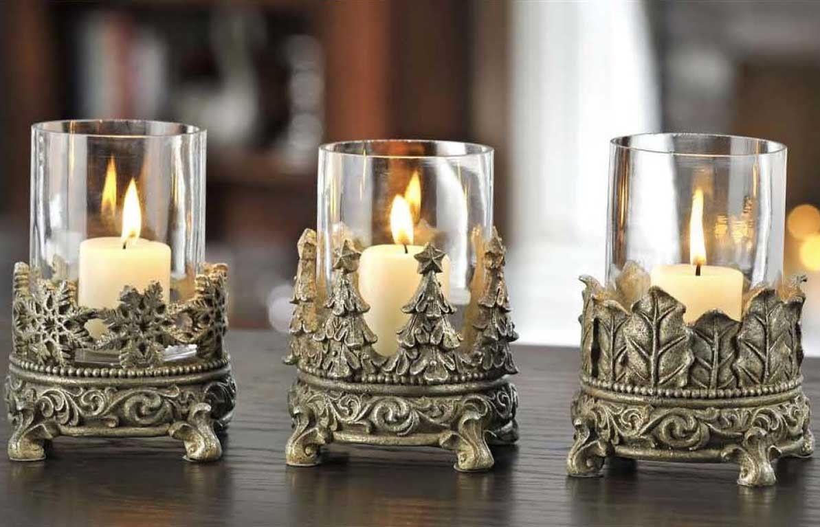 Christmas Candle Holders | Svíčky, Svícny a Dekorace