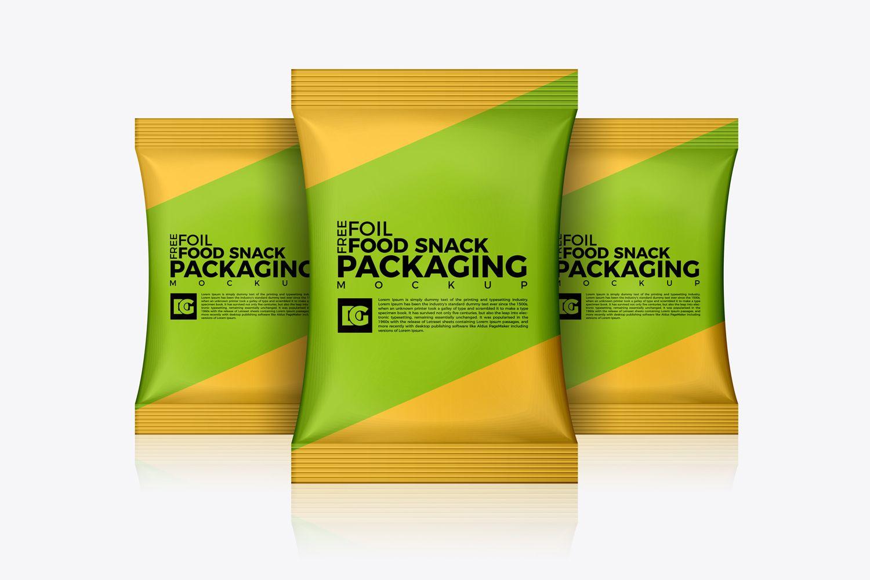 Download Free Foil Food Snack Packaging Mockup Free Packaging Mockup Packaging Mockup Food Mockup