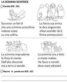 Sci sce ortografia pinterest italian grammar for Parole con sche e schi