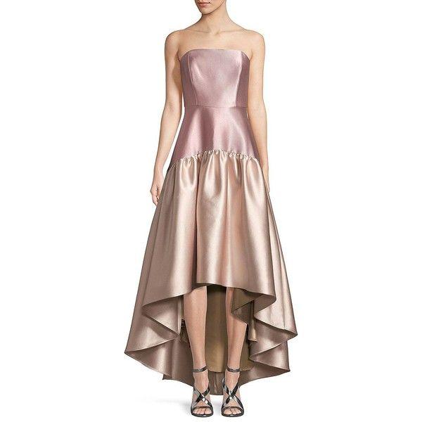 Belle Badgley Mischka Women\'s Metallic Hi-Lo Gown ($299) ❤ liked on ...