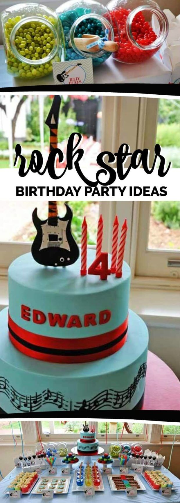 Guitar Rock Star 4th Birthday
