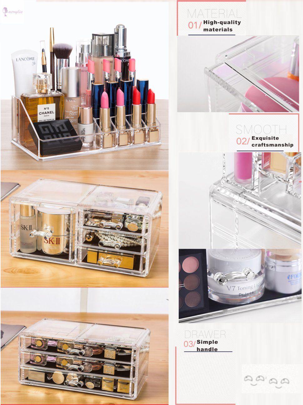 Cq acrylic 7 Drawers and 16 Grid Makeup