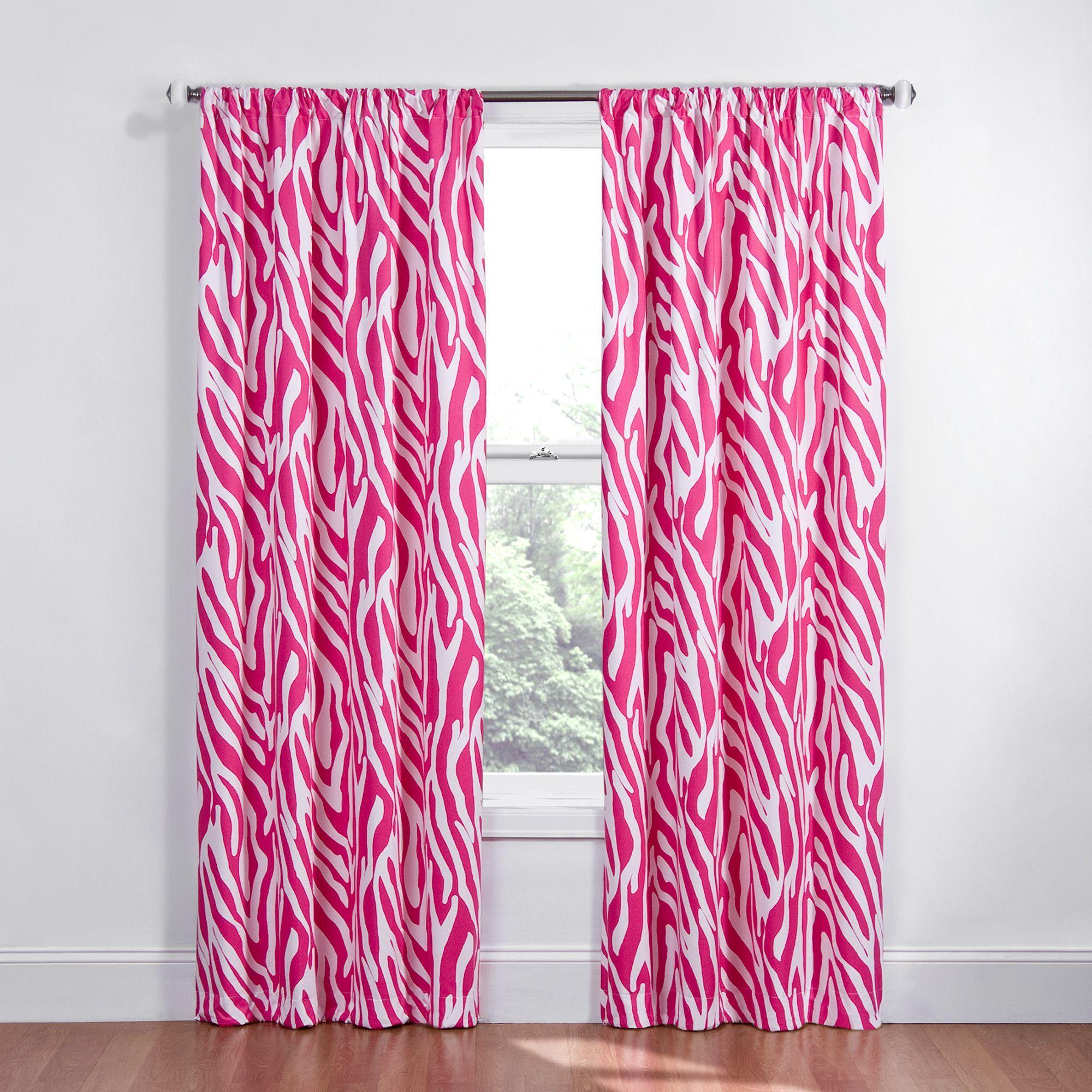 Kids Safari Rod Pocket Single Curtain Panel Zebra Curtains