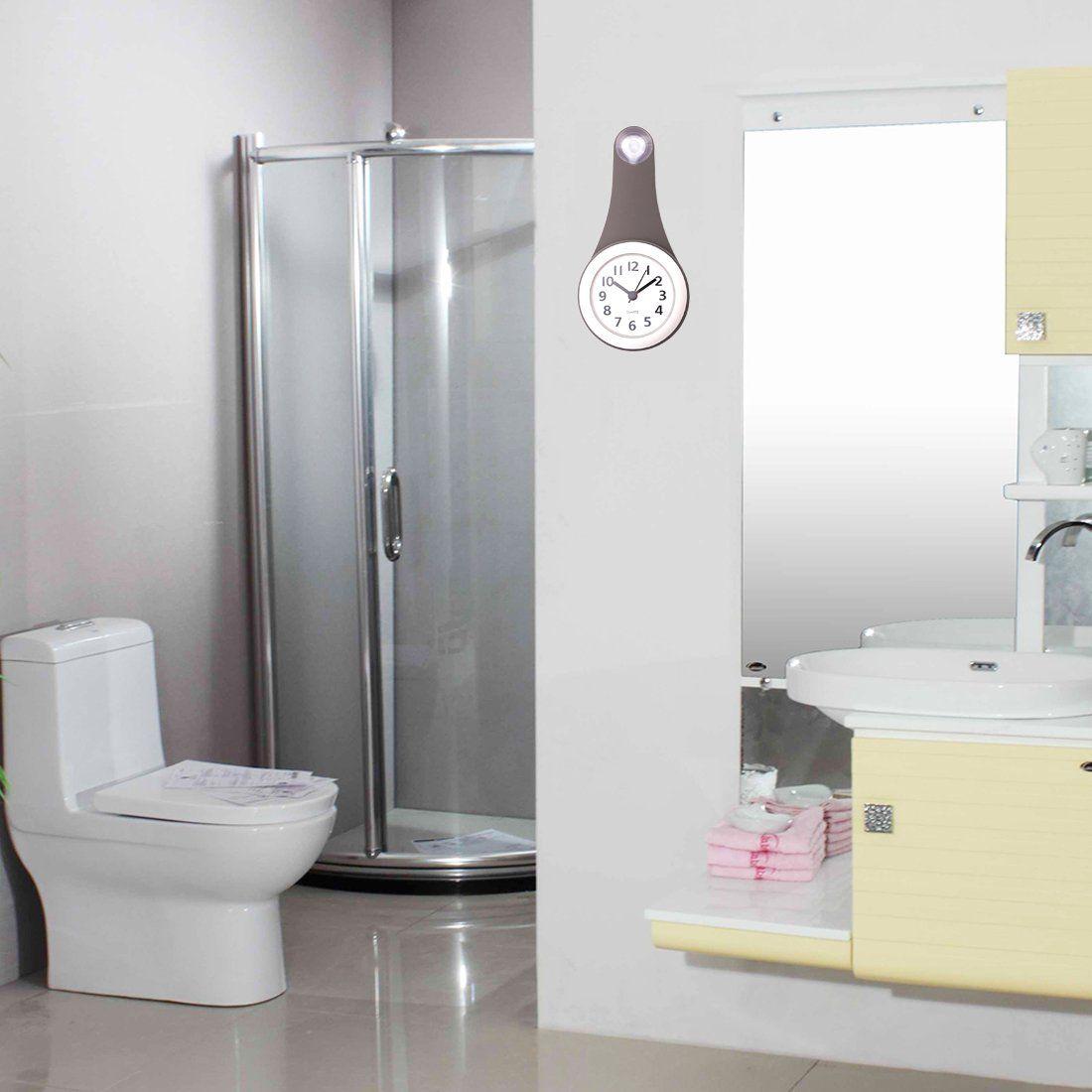 Wall Clock Lingxuinfo Household Bathroom Waterproof Small Digital