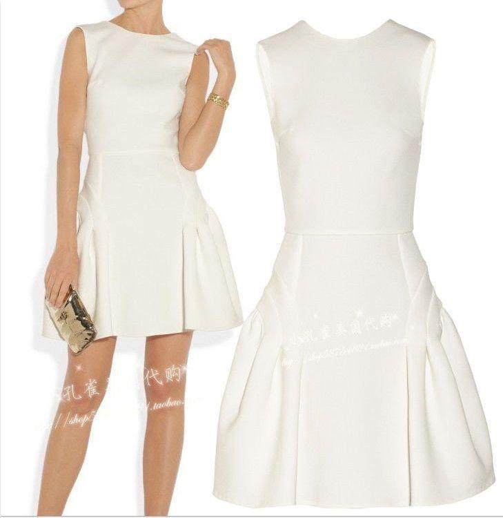 Vestido blanco | Vestidos | Pinterest | Vestidos blancos, Blanco y ...