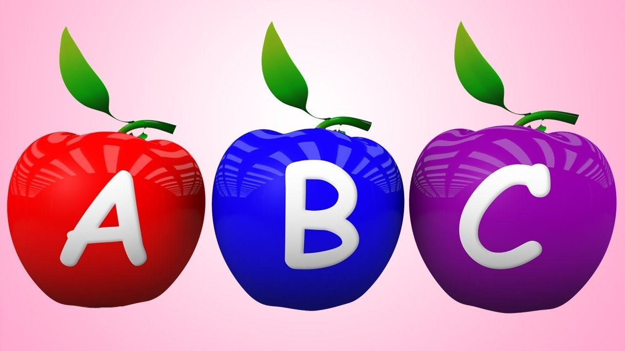 Abc Alphabet Songs With Sounds For Children Apple 3d Abc Songs Rhyme Preschool Kids Coloring For Kids Learning Abc