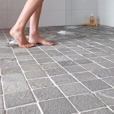 Carrelage salle de bain en pierre de schiste naturelle espace aubade salle de bains for Carrelage salle de bain aubade