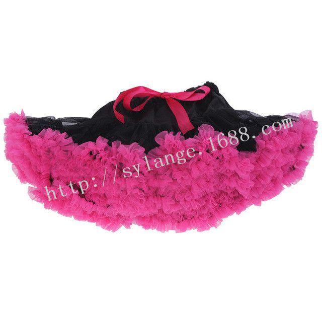 Fashion Cosplay fluffy Teenage girl girl's spell color Christmas tutu skirt veil performances skirt