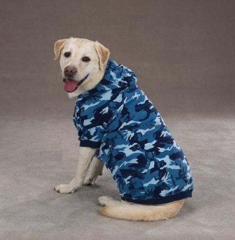 ff3d0551ed3d2 Amazon.com : Casual Canine Camo Hoodie for Dogs, 20