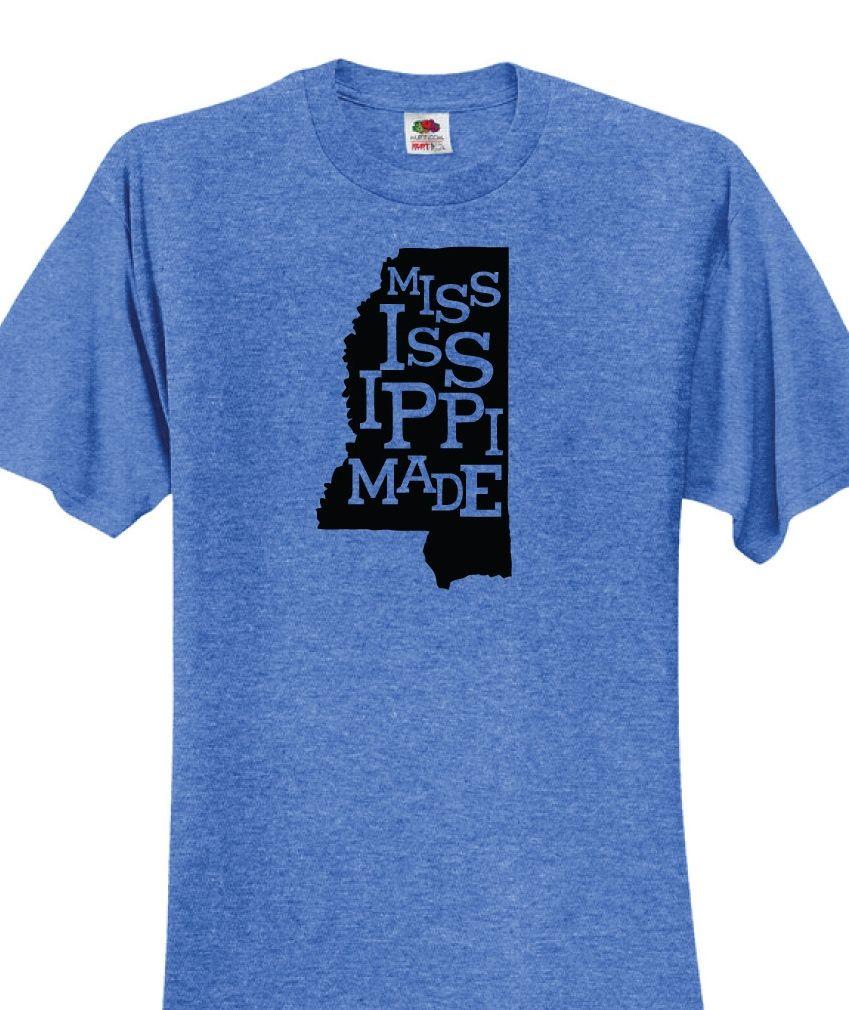 Mississippi Heat Transfer Vinyl Design On T Shirt Mississippi