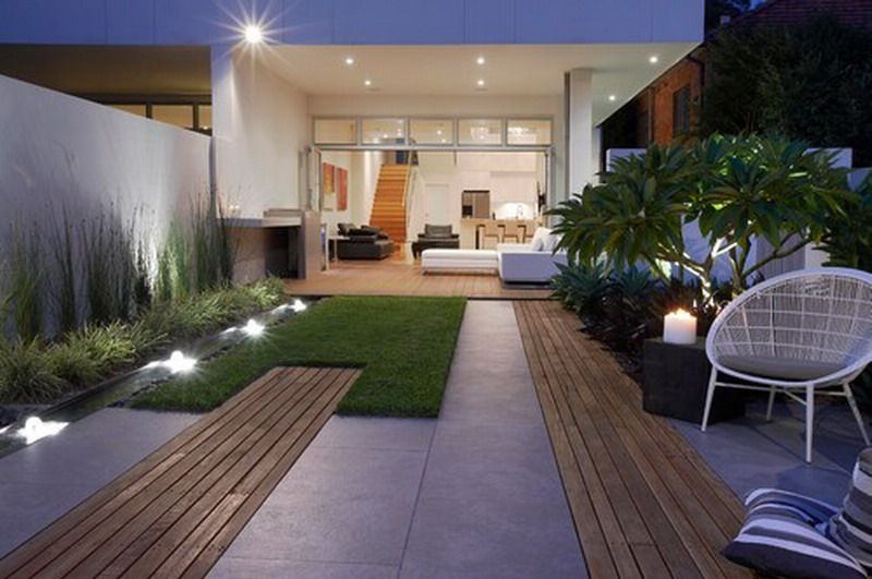 Beautiful Modern Minimalist Garden Patio Concept Design
