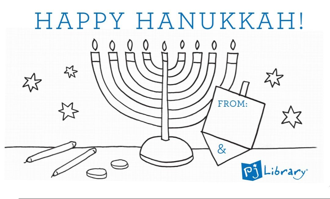 image relating to Printable Hanukkah Card identify Printable Hanukkah Card Little ones Functions-PJ LIBRARY