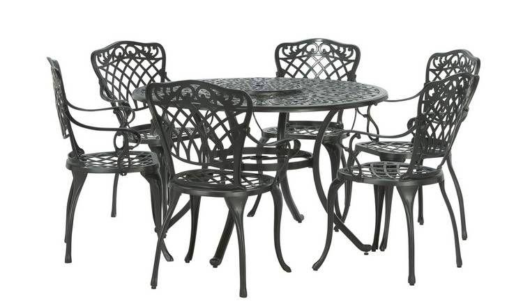 Buy Argos Home Kensington Cast Aluminium Dining Set ...