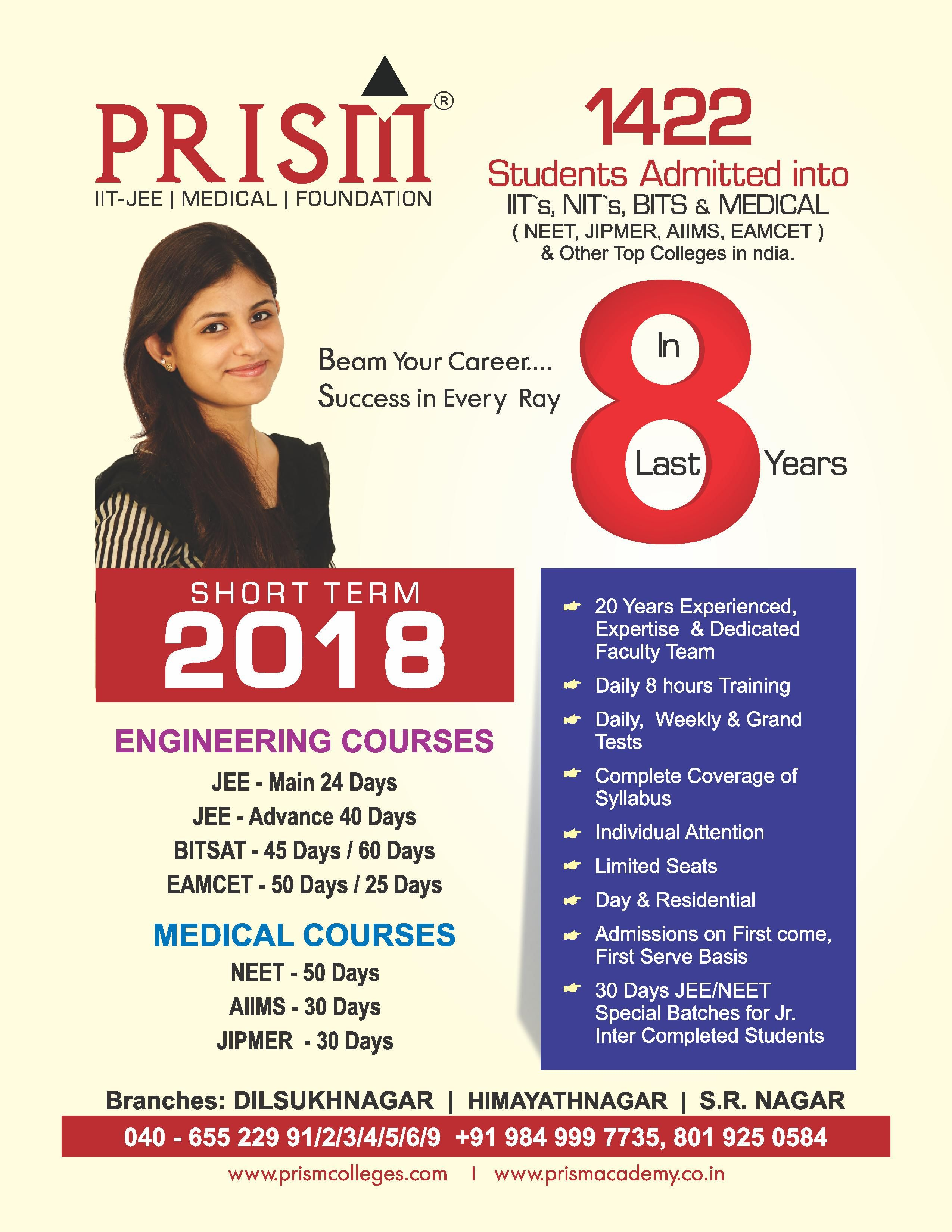 Are You Looking For The Best Neet Iit Jee Main Advanced Coaching Centres In Hyderabad Join Prism Academy Prism Academy Coaching Top Colleges Student