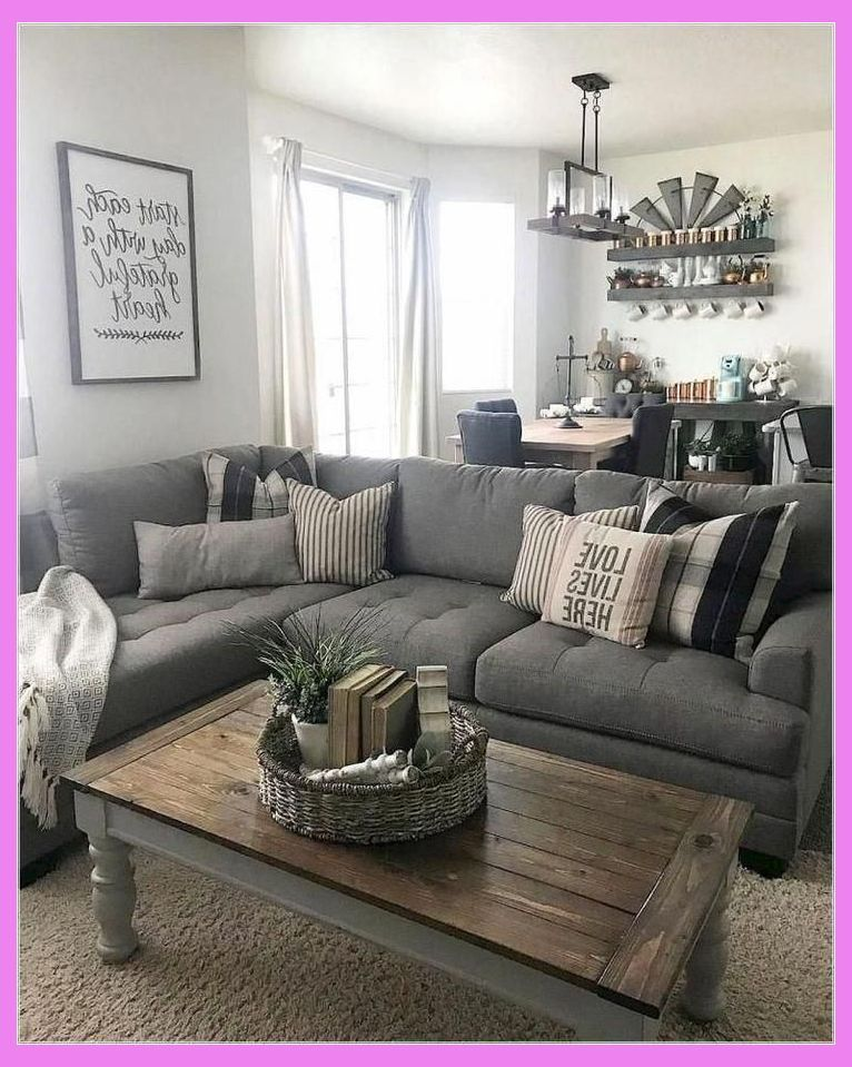 35 Beautiful Small Living Room Ideas To Make The Most Of Your Space Grey Farmhouse Living Room Furniture Farm House Living Room Farmhouse Decor Living Room #rustic #small #living #room #ideas