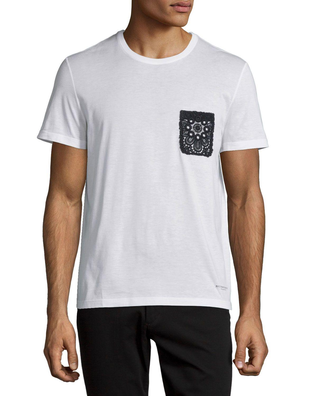 3e6850af95af Lace-Pocket Short-Sleeve T-Shirt