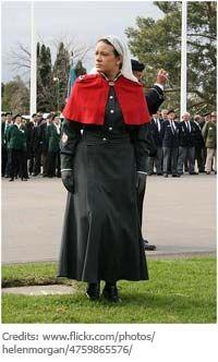 WW1 Australian Nurse Uniform. Black/Red/White color way.