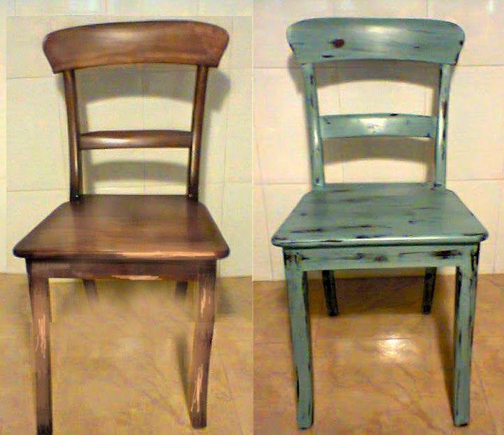 restaurar silla comedor tiza pintura