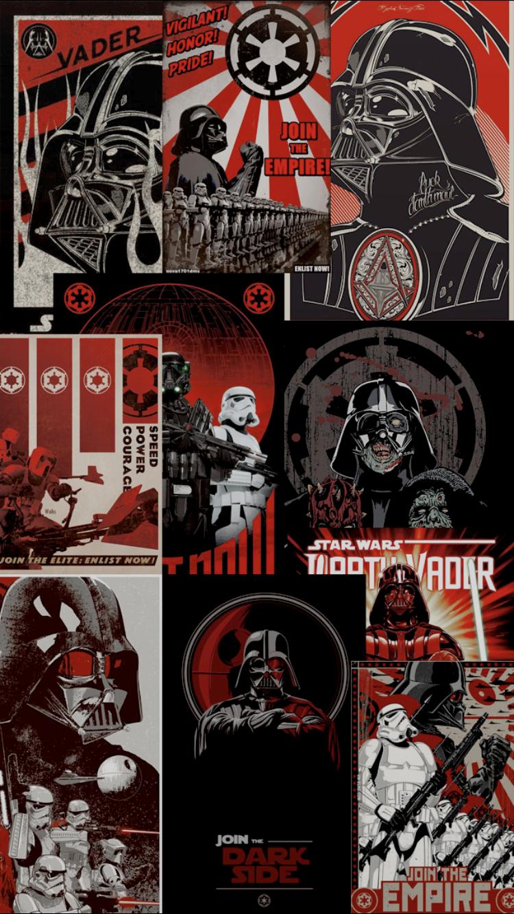Iphone Star Wars Collage Wallpaper Wallpapershit