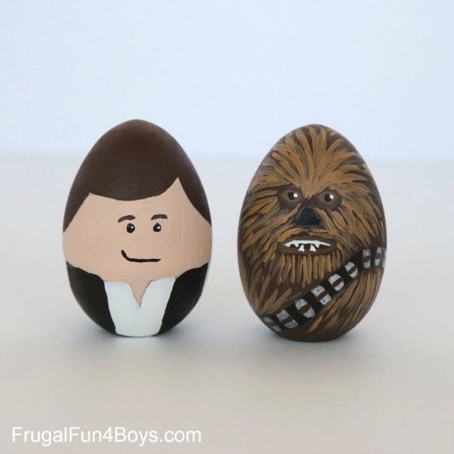 Terrific Star Wars Easter Eggs Terrific Star Wars Easter Eggs  Han Solo and Chewbacca Easter Eggs made by Sarah Dees