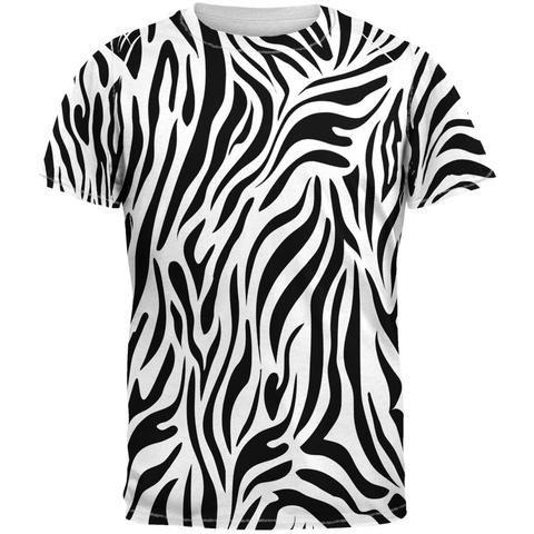 04f06624e Zebra Print White Sublimated Adult T-Shirt | Seussical | Zebra print ...