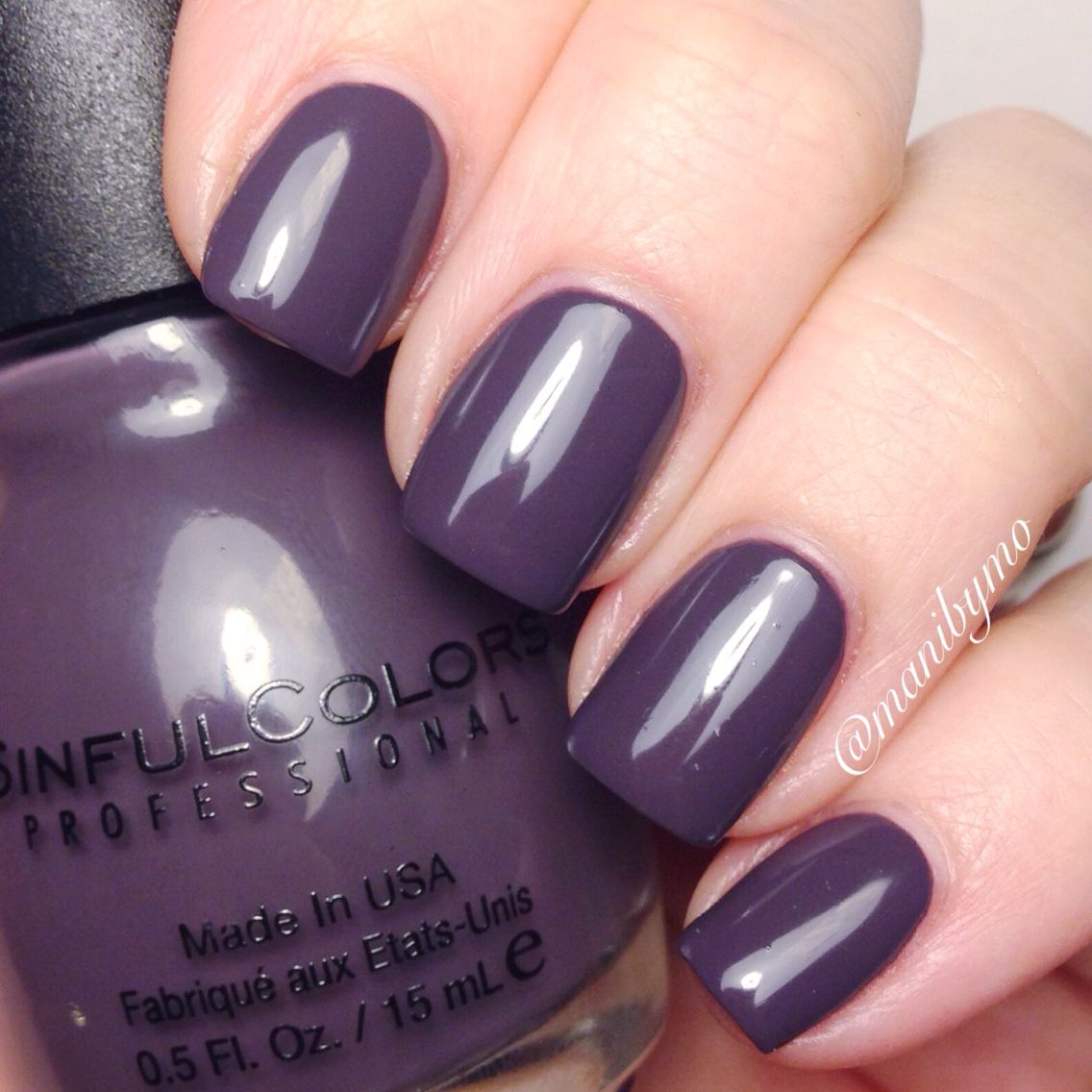 Winter Nail Polish Colors: Sinful Colors Mauvelous