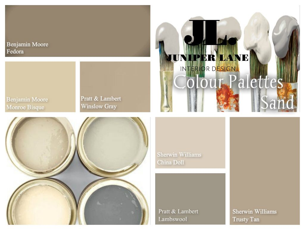 These sandy tones are a warm mix between grey and beige for How to mix grey paint