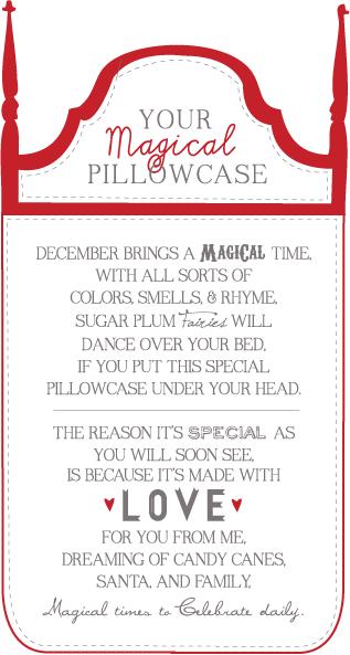 Magical Pillowcase Christmas Poem Gift Tag {Christmas Poem ...