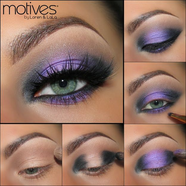 PURPLE FEVER by Theamazingworldofj using Motives! Apply Cappuccino as transition shade onto the crease and Onyx onto the outer part & the inner part of the lid leaving the center untouched. Apply a bit of the Eye Base onto the center of the lid before applying Fantasy. Eyeliner in Onyx to darken the waterline, on the outer & inner lower lash line & Fantasy onto the center of the lower lash line. Gel eyeliner on top lash liner & create a winged liner. Apply Lustrafy mascara in Blackout…