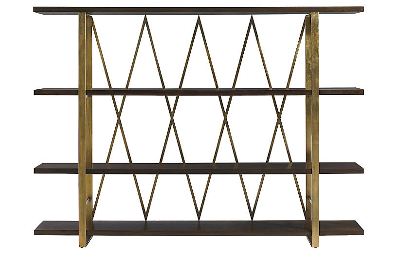 Modern Brass Etagere Vintage By Category Vintage One Kings