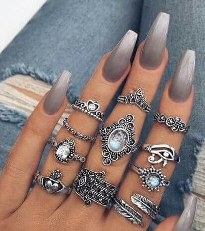 nails  rings with images  nail art ombre nail