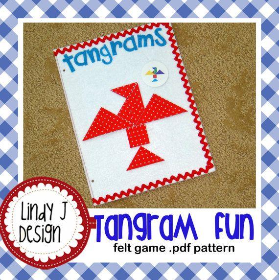 Felt Tangram Game Pdf Pattern With 2 Color Versions Tangram