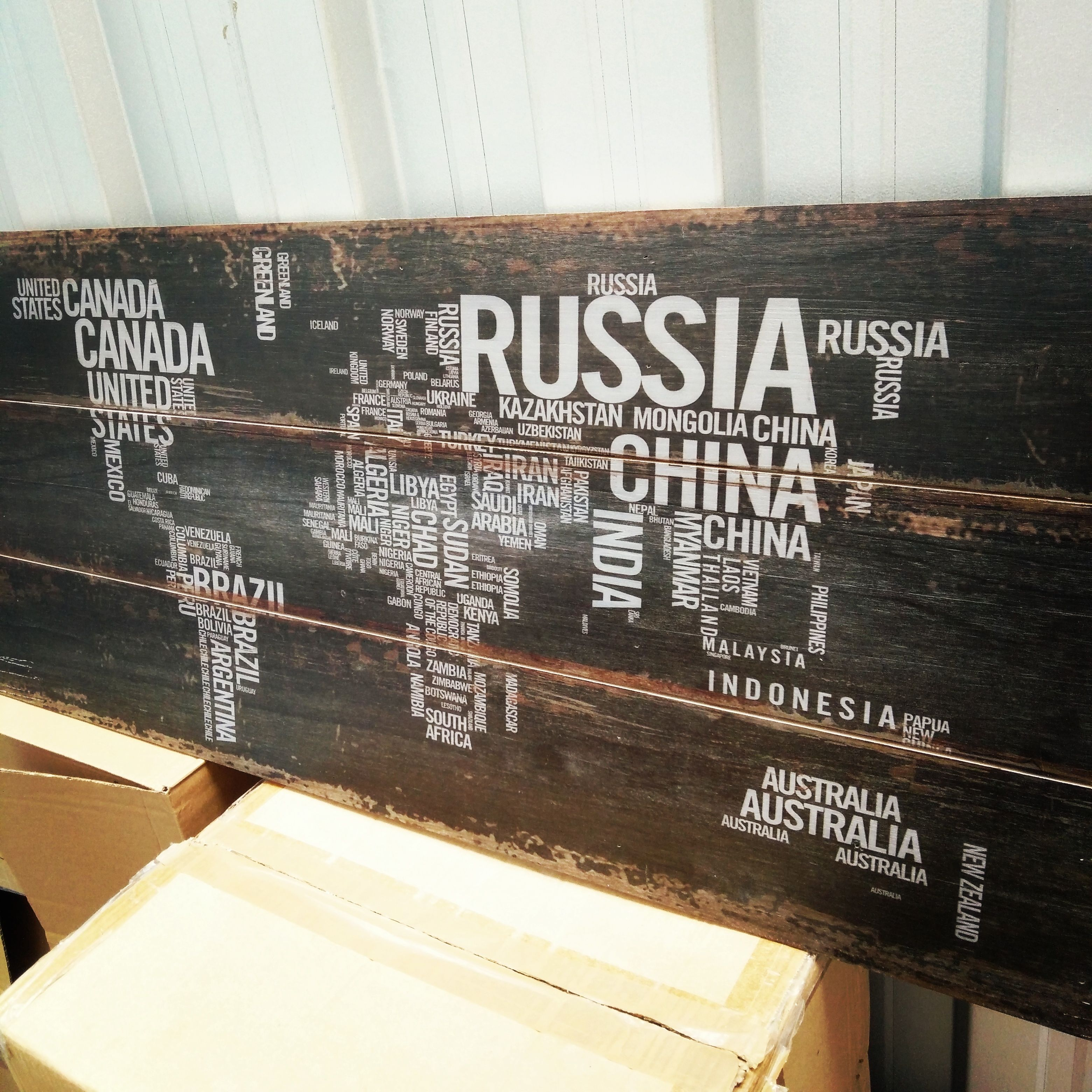 Buy Letters For Wall Glamorous Rustic #world #map #printed #wood #letters #countries #antique Design Decoration