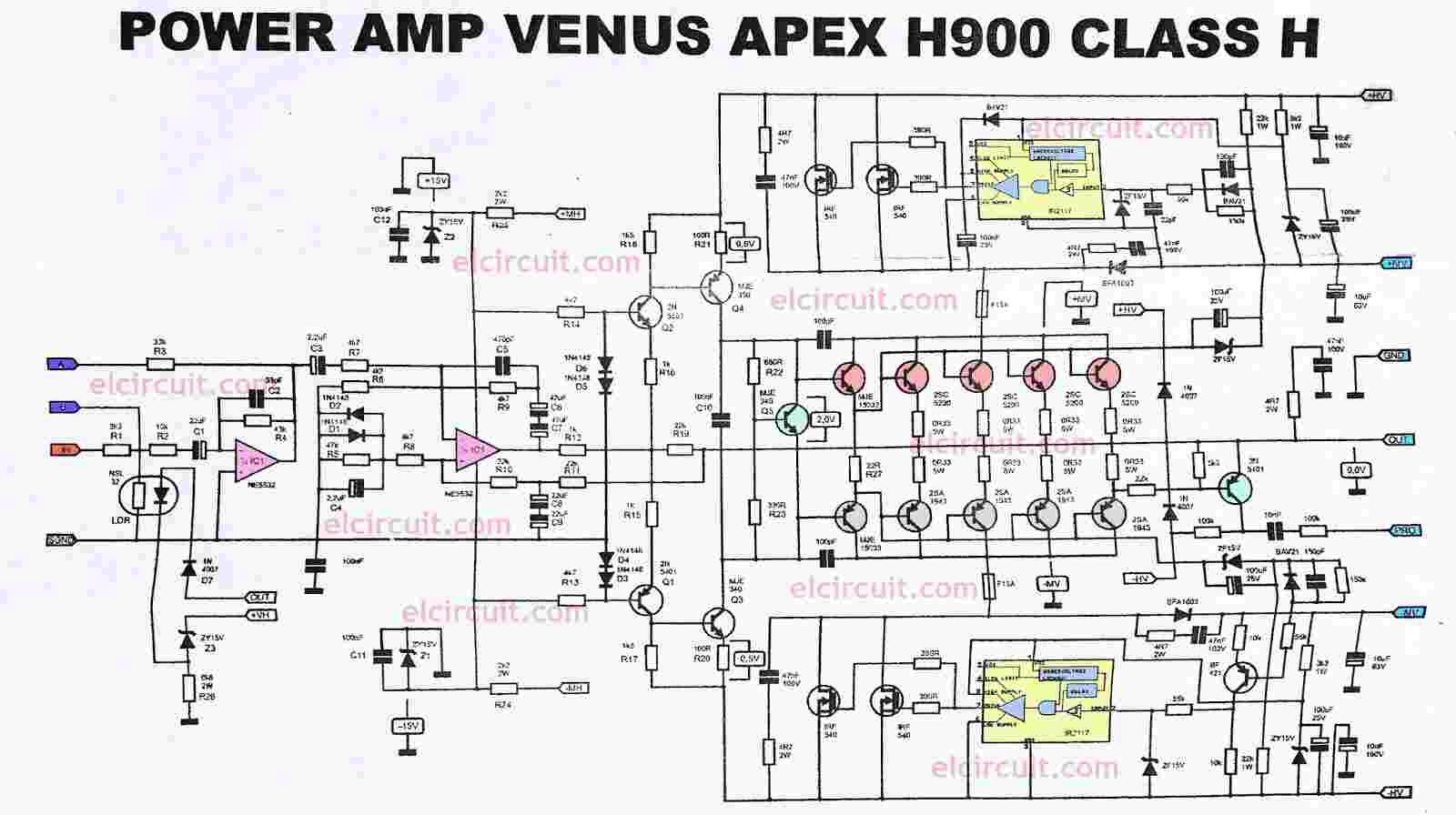 Power Amplifier Apex H900 Efficient Flat And Powerful Tda2004 Car Stereo Circuit Electronic Circuits Diagram